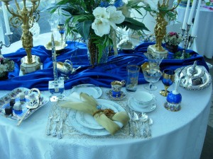 Blue and Gold Elegance