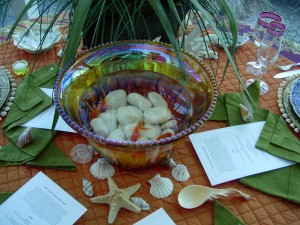 Carnival Fish Bowl Centerpiece
